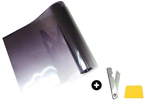A1 Grünkeil Blendstreifen Tönungsfolie Sonnenkeil SunTape Scheibenkeil Black Silber Folie Sonnenschutz Scheibenfolie Scheibe