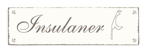 SCHILD Türschild « INSULANER - SYLT » Shabby Vintage Holzschild Dekoschild Dekoration Gastronomie Urlaub Reisen