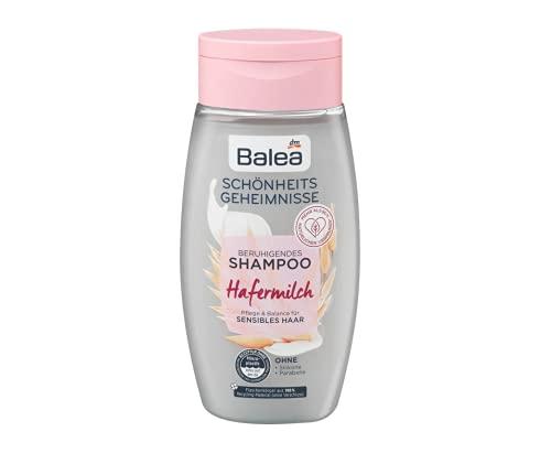 Shampoo met hamelk, verzorging en balans voor gevoelig haar, zorgt voor verzorgd haar en een ontspannen hoofdhuid, zonder siliconen en parabenen, 250 ml