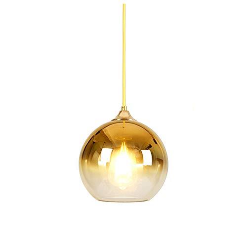 MZStech Lámpara colgante esférica de color degradado, lámpara de cristal moderna basada...