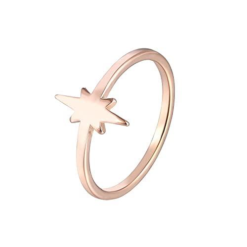 Anillo de acero de titanio anillo chapado en oro femenino, 7, zinc,
