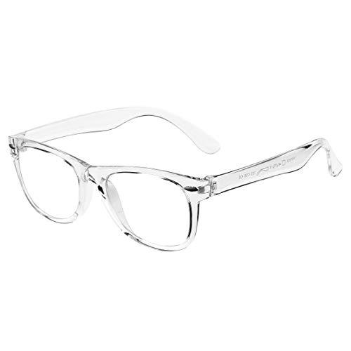 DeBuff Kids Blue Light Blocking Glasses Boys Girls Nerd Blue Light Blockers Age 3-12 (Clear)