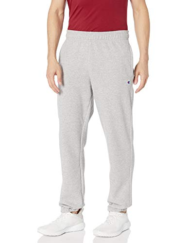 Champion Herren Powerblend Relaxed Bottom Fleece Pant Unterhose, Oxford-Grau, Klein