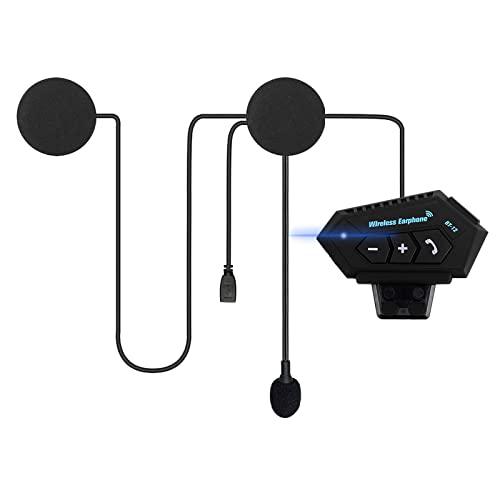OBEST Auriculares Moto Bluetooth, Casco Auricular con Sistema de ComunicacióN Manos Libres y FuncióN de ReduccióN de Ruido, para una Variedad de Montados en Casco