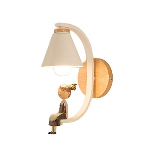 Aplique de pared clásico aplique Lámpara de pared, nórdicos creativas apliques de madera, sala dormitorio Luz a la pared, moderno y minimalista de pared de iluminación Aplique de pared de bajo consumo