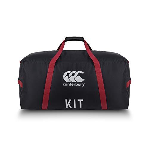 Canterbury Unisex's Team Kit Tas, Zwart/Rood Dahlia/Zilver, One Size