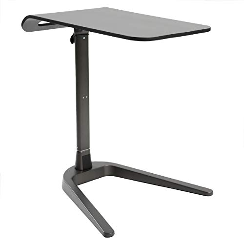 Cozy Space Swivel TV Tray Table and Easy Storage with Wood and Metal, Black