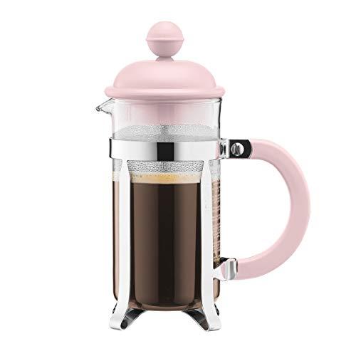 Bodum - Cafetera de émbolo (3 tazas), color rosa pastel
