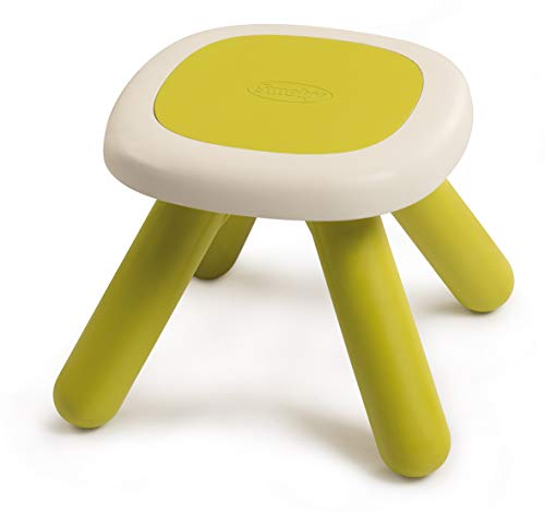 Smoby 880205 Kid kruk groen, design kinderkruk van kunststof, kinderstoel voor kinderkamer of geschikt voor smoby speelhuisjes, Made in France, groen