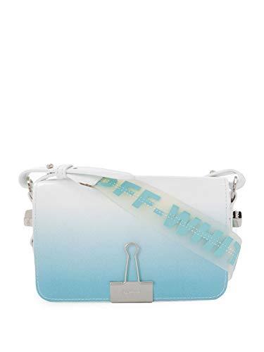 Luxury Fashion | Off-white Dames OWNA038R20G990683100 Blauw Leer Schoudertassen | Lente-zomer 20