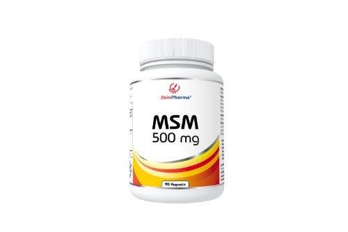 ZeinPharma MSM 500 mg, 90 Kapseln, 1er Pack (1 x 52 g)