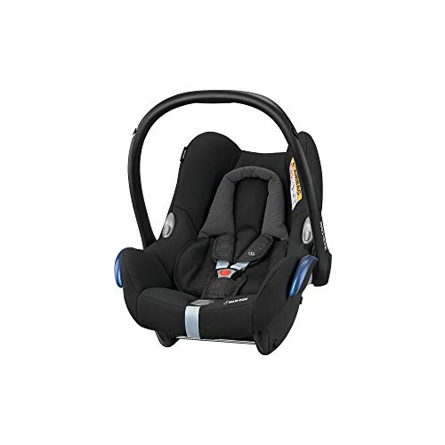 Maxi-Cosi CabrioFix Babyschale, Baby-Autositze Gruppe 0+ (0-13 kg), nutzbar bis ca. 12 Monate, passend für FamilyFix-Isofix Basisstation, Nomad Black (schwarz)