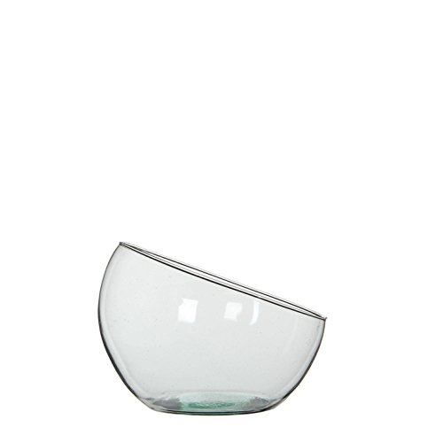 MICA Decorations 146873 Boly Bol Verre/Vase, Verre, Transparent, 19,5 x 19,5 x 18 cm