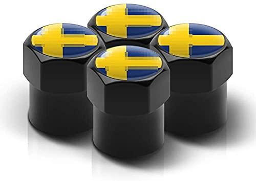 4 Piezas Neumáticos Tapas Válvulas para Volvo V40 V50 V60 V70 all models, Antipolvo Tapones de Coche Decoración Accesorios