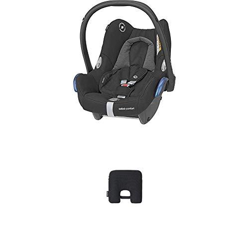 Bébé Confort Cabriofix Seggiolino Auto 0-13 kg, Ovetto Gruppo 0 +, 0-12 Mesi, Essential Black, con Dispositivo Antiabbandono