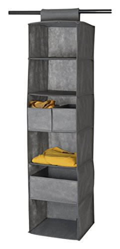 House Box RANGSU005 Dressing Rangement Suspendu avec 6 Compartiments Synthétique Beige 120 x 30 x 30 cm