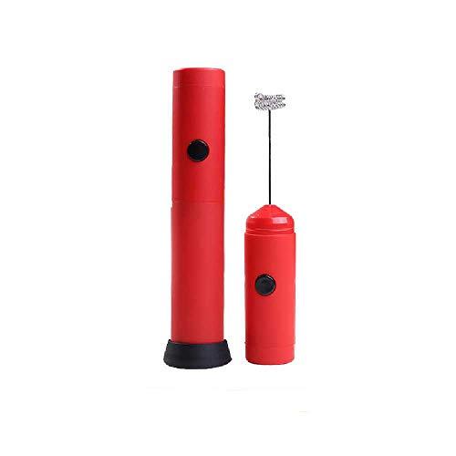 Undersea Handbediende Elektrische Eierklopper Melk Melkopschuimer Multifunctionele Mixer Kleine Melkopschuimer Roestvrij Staal rood
