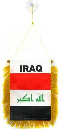 AZ FLAG Wimpel IRAK 15x10cm - IRAKISCHE Mini Flagge 10 x 15 cm - Auto Pennant spezielle Auto