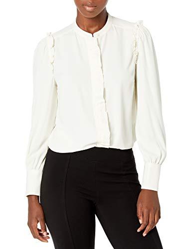 Amazon Brand - Lark & Ro Women's Crepe de Chine Long Sleeve Collar...