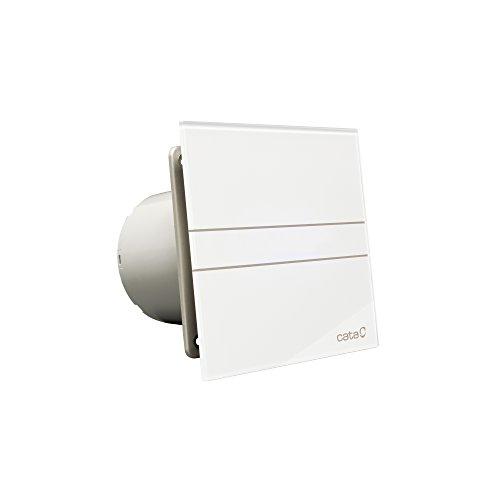 Ventilator CATA E-150 G B standaard 150 mm glazen front 350 m3/st zeer stille energiebesparende kogellagers EU merkkwaliteit sinds 1947