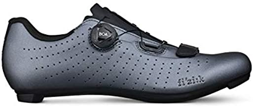 Fizik - Overcurve R5, Unisex Cyclist Shoes - Adult, Unisex_Adult, Cycling Shoe, TPR5OCMI2, Metal Black, 45 EU