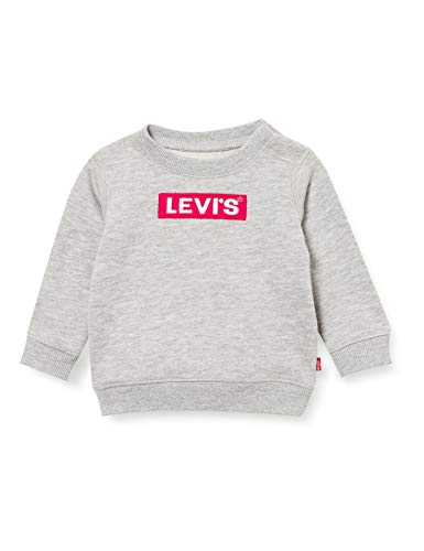 Levi's Kids Box Tab Crewneck B821 Sweatshirt, Grey Heather, 6 Mois Bébé garçon