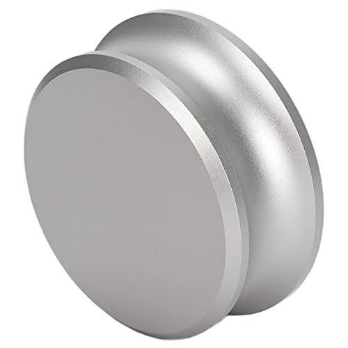 Abrazadera De Aluminio Para Tocadiscos, Estabilizador De Peso De Tocadiscos Para Grabación Mejoran La Calidad Del Sonido Para Grabar Para Regalar A Los Entusiastas(Plata)