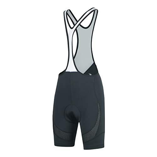 beroy Women's Cycling Bib Shorts, 3D Padded Bike Bib Tights Breathable Bicycle Shorts(L Black)