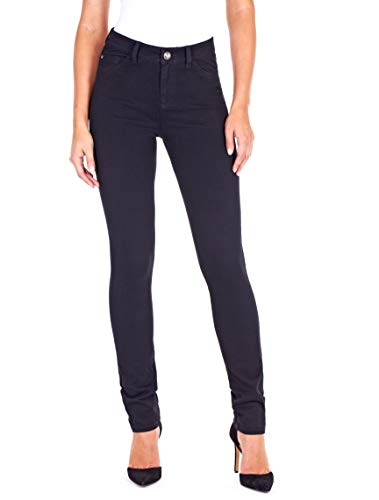 FDJ French Dressing Women s Olivia Slightly Curvy Fit Slim Leg Jeans,Black Love Denim, 8