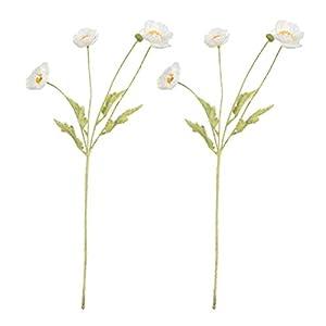 DOITOOL 2 Piezas Decoraciones de Flores de Amapola Flores de Amapola Artificiales para Arreglos Florales Vacaciones de…