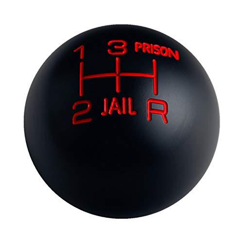 DEWHEL Weighted Round Black Jail Prison 5 Speed Shift Knob M10x1.5 M10x1.25 M8x1.25 M12x1.25