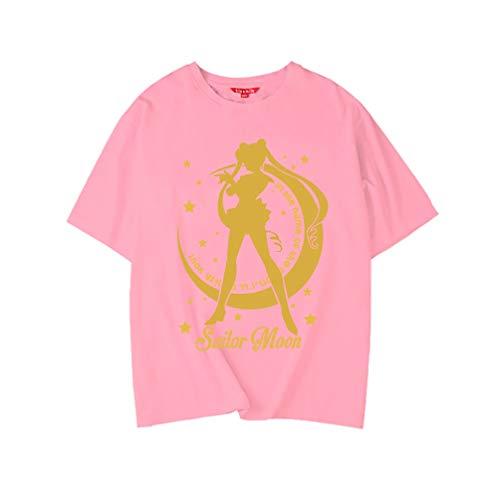 Kurzarm Tops T-Shirts, Sailor Moon Cosplay Kostüm, Mode Anime T-Shirts für Mädchen Junge