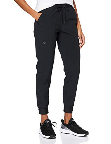 Under Armour UA Armour Sport Woven, Pantaloni Donna, Nero, M