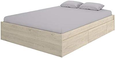 Hogar Decora Cama canape para colchones de 150x190 con 4 cajones en la Parte Inferior para