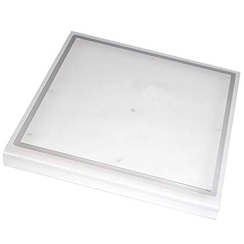 """Kitchen Kare Extra Large Acrylic Cutting Board with Counter Lip & Juice Groove, 18.5""""L x 20""""W, Clear"""