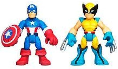 Super Hero Adventure Marvel Captain America & Wolverine Toy Figure by Super Hero Adventure