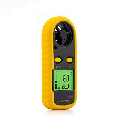Dingziyue Digitales Anemometer Handgehaltenes Anemometer Messgerät Hochpräzise Windgeschwindigkeit Luftvolumen Tester Windmesser (Farbe