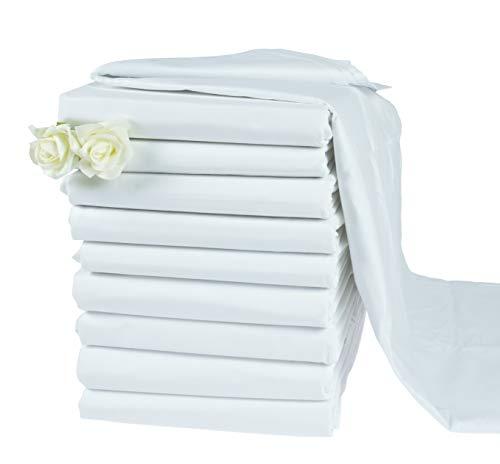 KMP know how in modern printing Haustuch/Bettlaken BettuchHotel ohne Gummi weiß Verschiedene Größen 125 g/m² (200 x 220 cm)