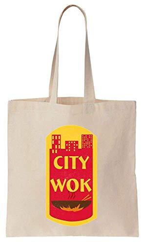 City Wok Historic CtPaTown Cotton Canvas Tote Bag