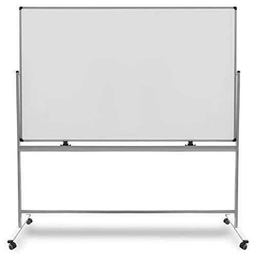 Mobiles Whiteboard | Magnet Tafel mit Fahrgestell und schutzlackierter Oberfläche | fahrbare Stativdrehtafel in 5 Größen (90 x 120 cm)