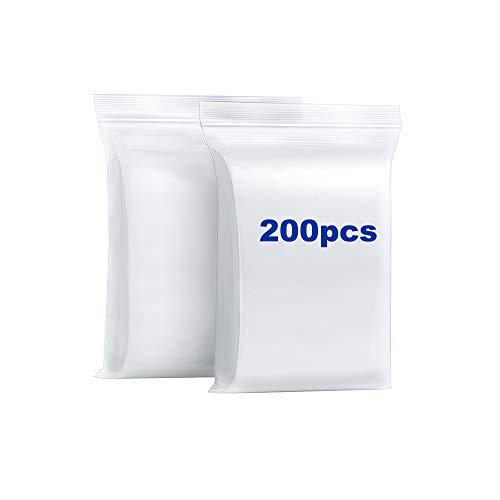 """200PCS 1.5""""x1.5"""" Thick 2.4 Mil Small Clear Zip Poly Lock Bags Seal Plastic Mini Resealable Zip Bags Necklace Ring Coin Beads Jewelry Pill Zipper Bag"""