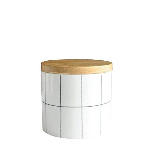 XZJJZ Escultura de decoración, adornos de decoración tanque de almacenamiento de celosía blanca Tanque de almacenamiento de escombros de cerámica latas selladas Tanque de almacenamiento Tanque de alma