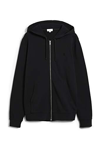 ARMEDANGELS ZAAC - Herren Sweatjacke aus Bio-Baumwolle S Black Sweat Jacke Regular fit