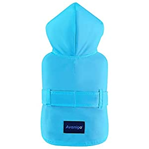 Avanigo Dog Wear Yellow Dog Raincoat with Pockets, Dog Rain Jacket with Hood, Rain/Water Resistant, Stylish Premium Dog Raincoats