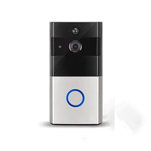 Draadloze deurbel met HD-camera, Android iOS-deurbel Camera Breedhoeklens, Twee-weg Audio Intercom, 8GB TF, IR Nachtzicht, PIR Bewegingsdetectie, Smart APP Remote Smart Draadloze deurbel