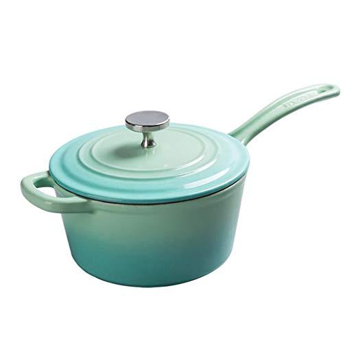 Cocina artesanal Olla De Hierro Fundido Olla De Sopa De Esmalte Antiadherente 19cm Suplemento de comida para bebés olla (color : A)