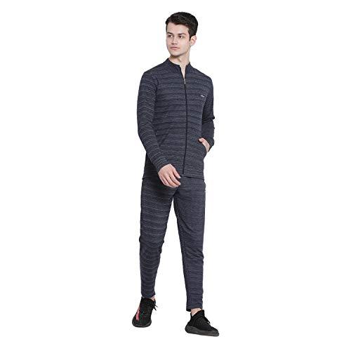 Genx Men's Cotton JOGGER Blue Millange Track Suit