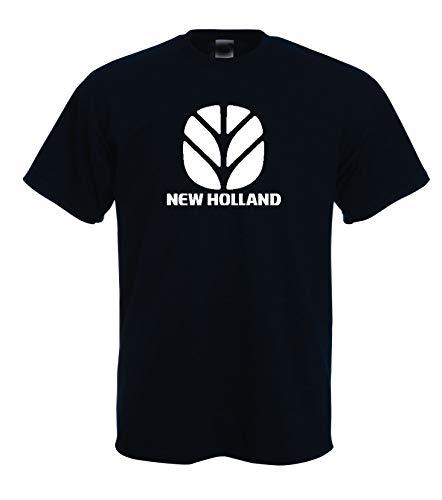 Solenzo T-Shirt, schwarz, für Herren, New Holland, Traktor – Landwirtschaft Gr. XL, Schwarz