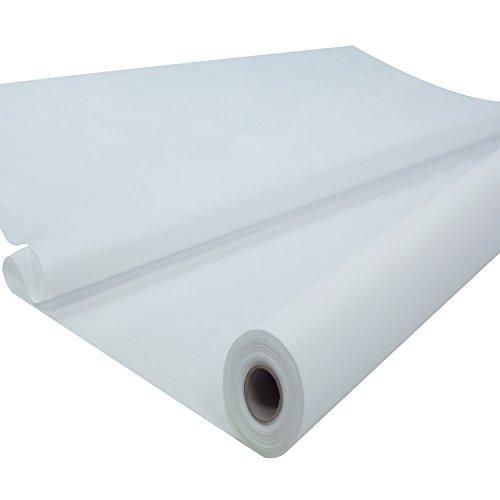 Sensalux Tischdeckenrolle, stoffähnliches Vlies, Standard 100 by Oeko-TEX - Klasse I Zertifiziert, 1,20m x 25m, Weiß