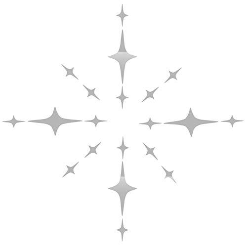 lffopt Pegatinas Decorativas Pared Espejos Grandes De Pared 3D Pegatinas de Pared Mariposa Etiqueta de la Pared Pegatinas para los Espejos Silver